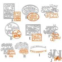 New Metal Cutting Dies Stencils DIY Scrapbooking Embossing Photo Album Paper Card Craft Mother's Day Best Wishes English Letter