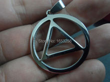Wholesale 5pcs lot 30mm triangle Charms Stainless steel Religious star of David Pendant No chain Fashion jewlery(China)