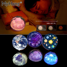 New 3D Creative LED Earth Universe Night Lights Cartoon Light Flash Magic Constellation Projector Lamp USB Intelligent Kids Gift