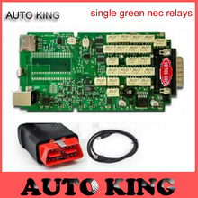 2017 New VCI Green Single Board NO bluetooth NE-C relay Diagnostic Scanner Tool for cars trucks VD TCS CDP Pro 2015 R1 Free Ship(China)