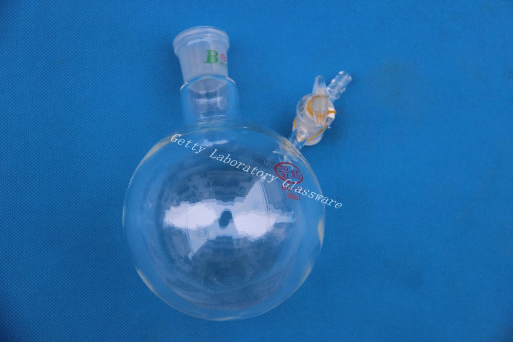 500ml Reaction Flask, with glass stopcock, glass lab instrument<br>