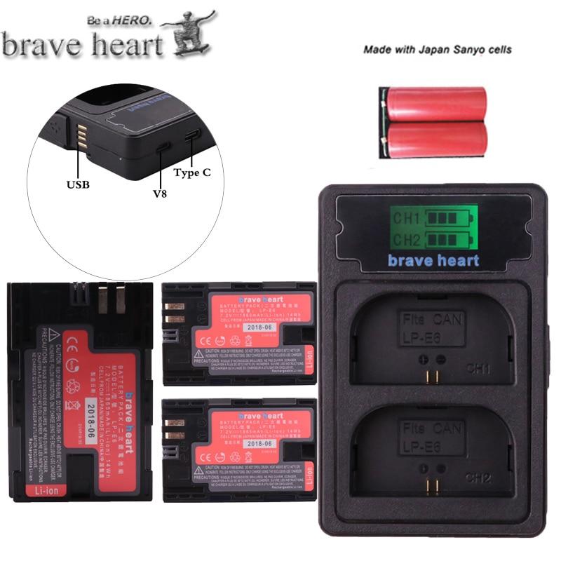 Digital Batterien Stromquelle 2x Decodiert 1865 Mah Bateria Lp E6 Lpe6 Lp-e6 Kamera Batterie Lp-e6n Lp E6n Für Canon Dslr Eos 60d 5d3 7d 6d 70d 5d Mark Ii Iii