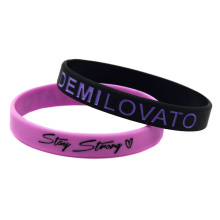 Promo Gift 50PCS/Lot Demi Lovato Silicone Wristband Stay Strong with Love For Music Fans(China)