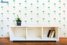50pcs/set Palm Tree 7x10cm Wall Pattern Decal - Wall Decor Custom Vinyl Art Stickers for Nurseries, Schools, Libraries F812(China)