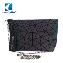 Cathylin Luxury Handbags Women Bags Designer Rainbow Colors Lattice Geometry Woman Messenger Bag for Lady bolsos mujer