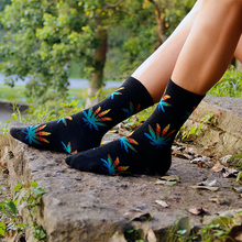 HOT!High Quality Diamond Harajuku Leaf Style Weed Socks For Women Men's Cotton Hip Hop Socks Man Meias Men Calcetines Socks(China)