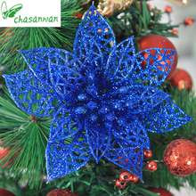1Christmas Tree Decoration Home Glitter Artificial Christmas Flower Noel Natal Wedding Party New Year Xmas Decoration,T - CHASANWAN Official Store store