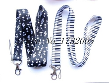 New 10 Pcs Popular Musical Note pattern Cello Phone Key Chain Neck Strap Keys  Lanyards Free Shipping Y23