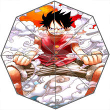 Hot Sale Cool Japanese anime one piece Adults Universal Design Fashion Foldable Sun and Rain Umbrella Free Shipping SQ0602-ON631(China)