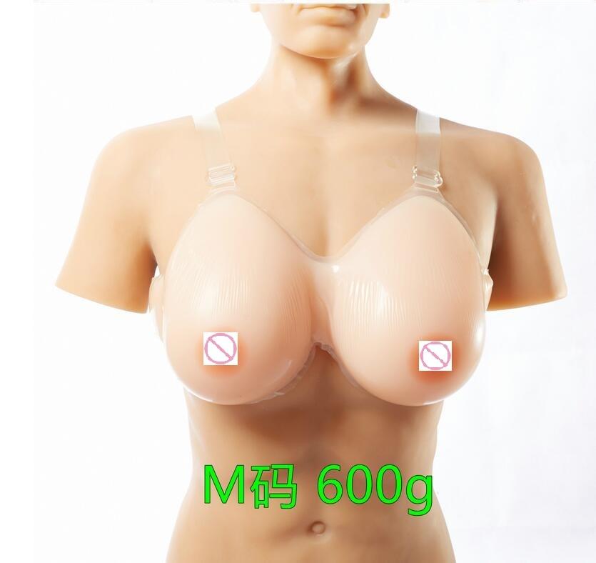Silicone Fake False Breast crossdresser silicone breast form silicone breast chest prosthesis 600g 34B/36A-38AA Free shipping<br>