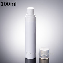 Free shipping, 30pcs / lot, 100ml perfume spray bottles,white plastic spray bottle of perfume packaging,Refillable bottles