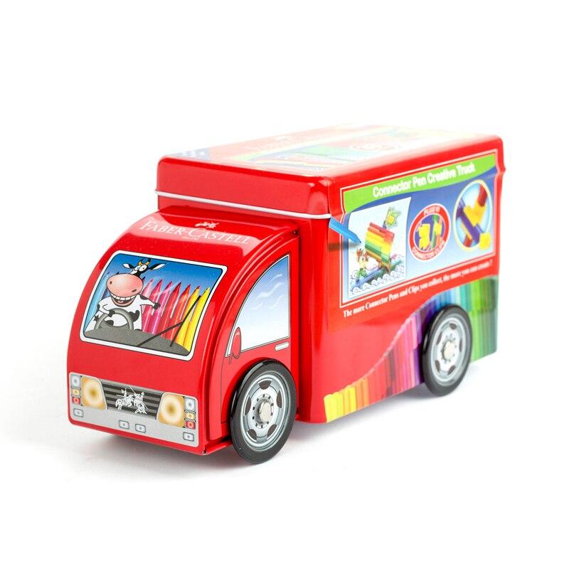 FABER CASTELL Promotional car 33 color can be puzzle intellectual watercolor pen children can wash color pen suit<br>