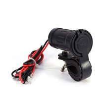 Motorcycle Scooter ATV Handlebar Waterproof Motorbike Dual USB Charger For Phone GPS