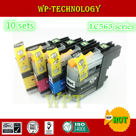 [10 sets] Compatible Ink cartridge suit for LC563 , LC-563 suit for MFC-J2510 MFC-J2310  MFC-J3720  MFC-J3520 ect<br><br>Aliexpress