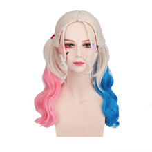 New Harley Quinn cosplay wig Suicide Squad and Batman costume play wigs HSIU High Temperature Fiber hair