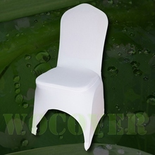 50 White Color Spandex Chair Cover for Wedding Party Decorations Banquet Hot Sale Big Discount