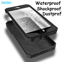 IMIDO Heavy duty armor Waterproof shock dust dirt proof stand holder cover case For LG G4 G5 for iPhone 6S Plus for note 5 S6 S7