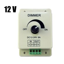 EWS DC 12V 8A Light Dimmer Brightness Adjustable Control For Single Color LED Strip