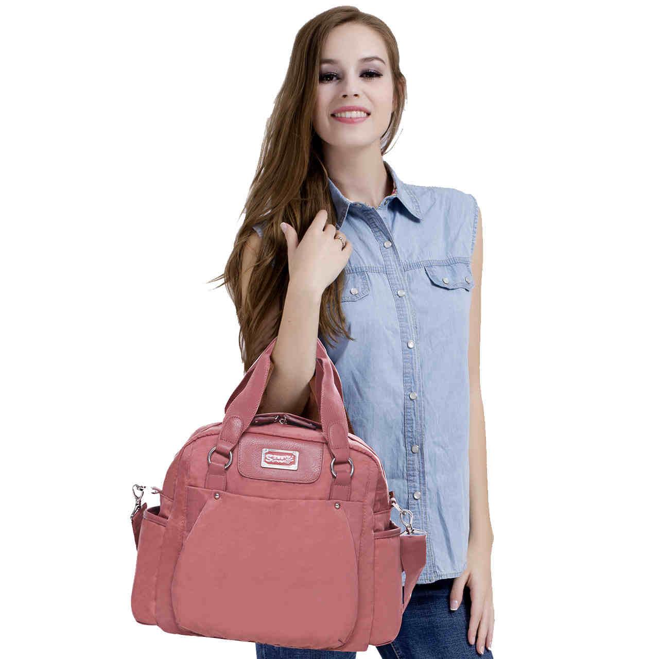 Sunveno Multifunction Diaper Bag Large Capacity Mammy Bag Shoulder Bag Outdoor Backpack<br>