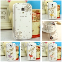 3D Handmade Bling Ballet Dancer Daisy Crystal Diamond Rhinestone Clear Cell Phone Cases Cover for Samsung Galaxy S3 mini i8190