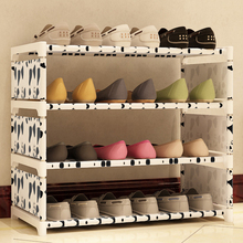 Portable Shoe Cabinet Storage Organizer Thick Shoe Racks Home Furniture DIY Simple Combined Shoe Shelf DIY Storage Rack#236469(China)
