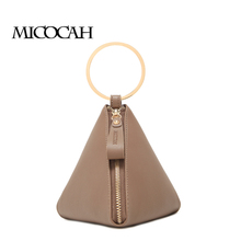 MICOCAH Fashion Women Totes Hander Bag PU Leather High Quality Solid Portable Zipper Versatile Famous Design GN40016(China)
