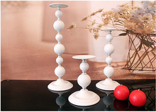 white iron metal cylinder candle holder set pillar candle stand candlestick for home wedding decoration candle holders 2202A