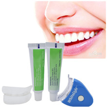 1 Set NEW Hot White LED Light Teeth Whitening Tooth Gel Whitener Health Oral Care Toothpaste Kit for Personal Dental Treatment(China)