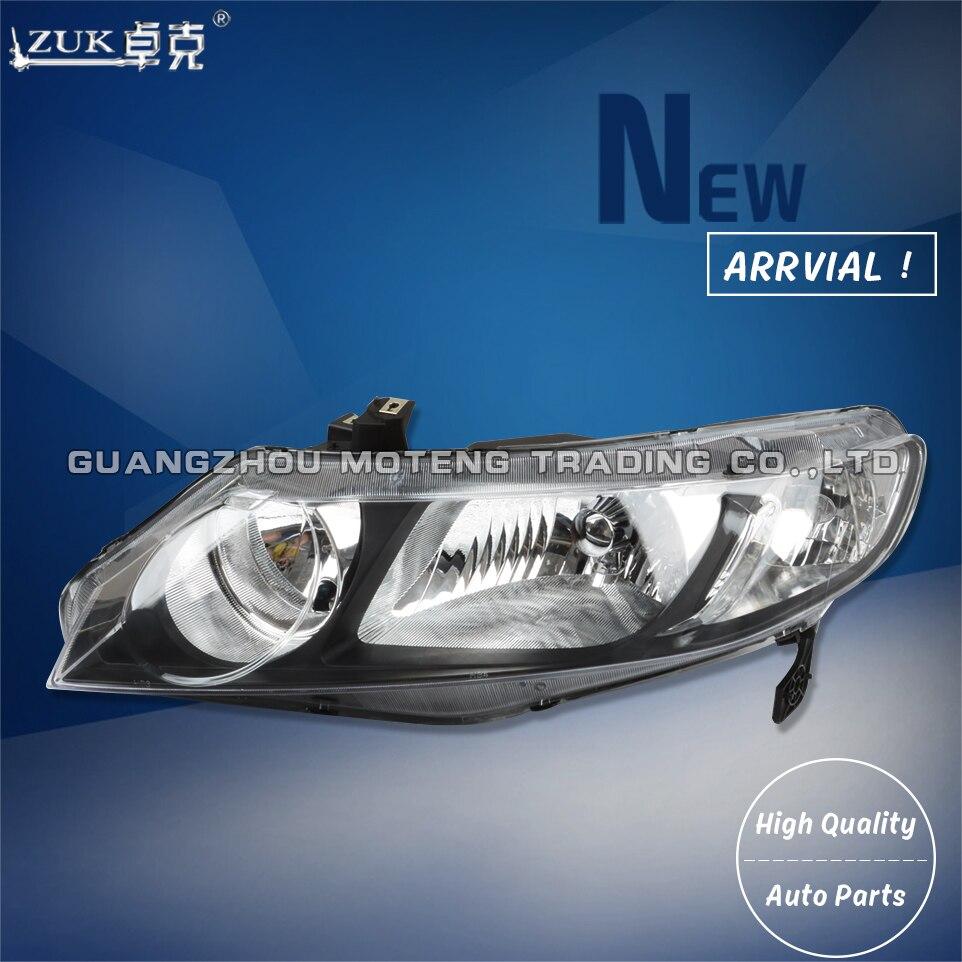 {FACTORY STYLE} 06-11 Honda Civic 4DOOR Left+Right Black Headlight Lamp Assembly