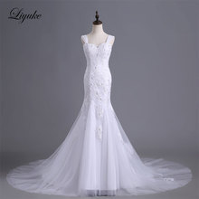 Buy Liyuke J8 High Sweetheart Mermaid Bride Dress Appliques Beaded Embroidery Elegant Sleeveless Court Train Wedding Dress for $194.61 in AliExpress store