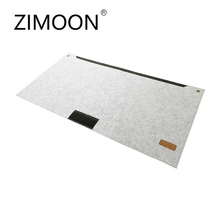 Zimoon Felt Large Mouse Pad 630*330mm Multi-function Mousepad Mouse Mat Keyboard Mat Table Mat With Pen Jack And Storage Bag