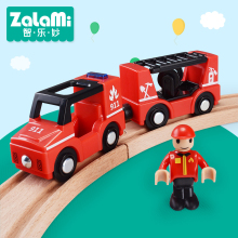 Zalami Plastic children Vehicle toys Fire Truck Vehicle Model the best gift to children Mini Car Play on the track(China)