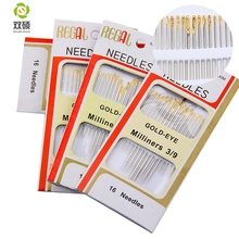 Shuan Shuo Gold Tail hand Sewing Needle For Sewing DIY Hand Stitch Assorted 80pcs/lot 5Pack(Hong Kong)