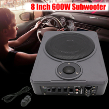 8 Inch Bluetooth Car Home Subwoofer Seat Sub 600W Stereo Subwoofer Car Audio Speaker Music System Sound Woofer