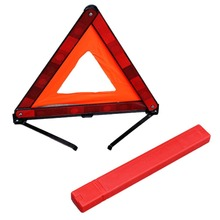 Practical Car Triangle Emergency Warning Sign Foldable Reflective Safety Roadside Lighting Stop Sign Tripod Road Flasher
