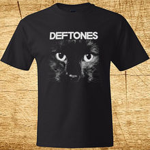 "New Deftones ""SPHYNX"" Kitten Rock Band Men's Black T-Shirt Size S-2XL Summer O-Neck Hipster Tops Fashion Men T Shirt(China)"