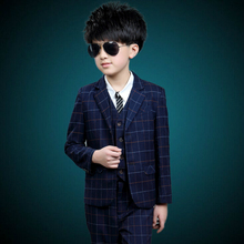 new arrival fashion boys kids 3PCS blazers boy suit for weddings prom formal spring autumn black dress wedding boy suits(China)