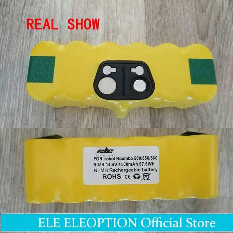 ELEOPTION High Capacity 4500mAh 14.4V Battery For iRobot Roomba Vacuum Cleaner 500 530 540 550 620 600 650 700 780 790 <br>
