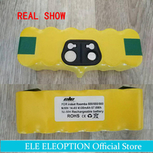 ELEOPTION High Capacity 4500mAh 14.4V Battery For iRobot Roomba Vacuum Cleaner 500 530 540 550 620 600 650 700 780 790(China)