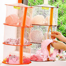 Mesh Clothes Dryer Net Windproof Foldable Multi-Layer Drying Rack Colorful Underwear Bra Laundry Sweater Hanging Basket(China)