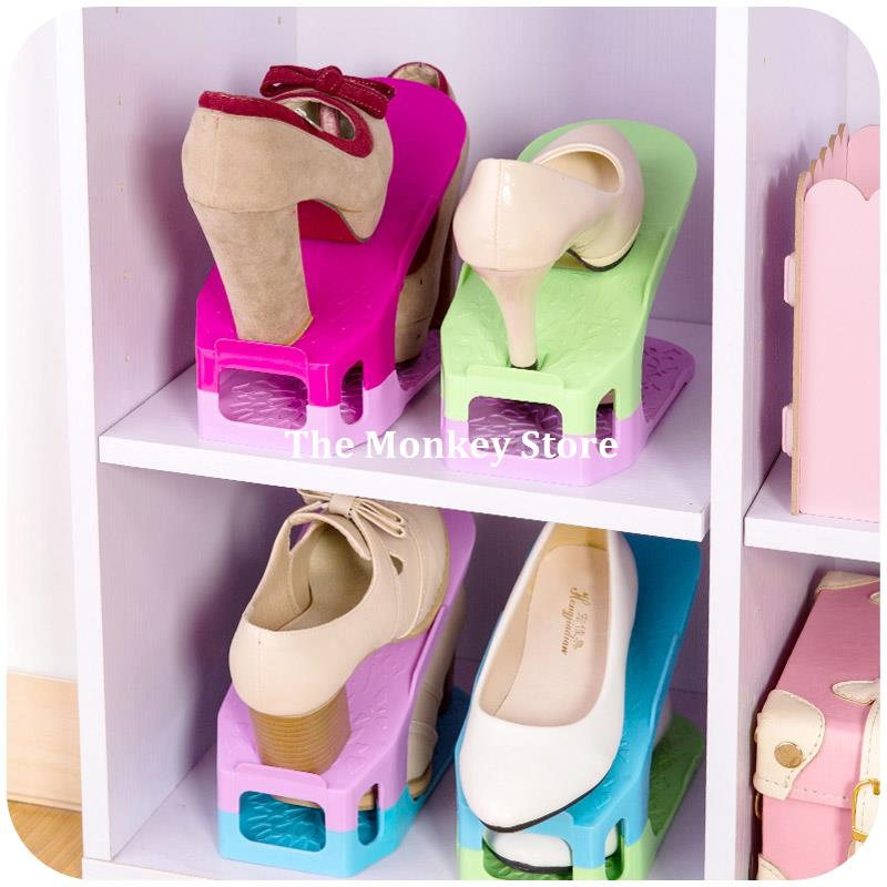 Shoes Rack Shoes Organizer Space Saving Shoes Tree Stand Shoe Storage Holder Adjustable Magic 2 Tier F3730<br><br>Aliexpress