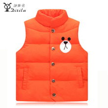 DISITU 2017 new arrivals cartton vest for boys girls Autumn Winter Kid's Fashion & Casual warm vest for girls boys 4 color