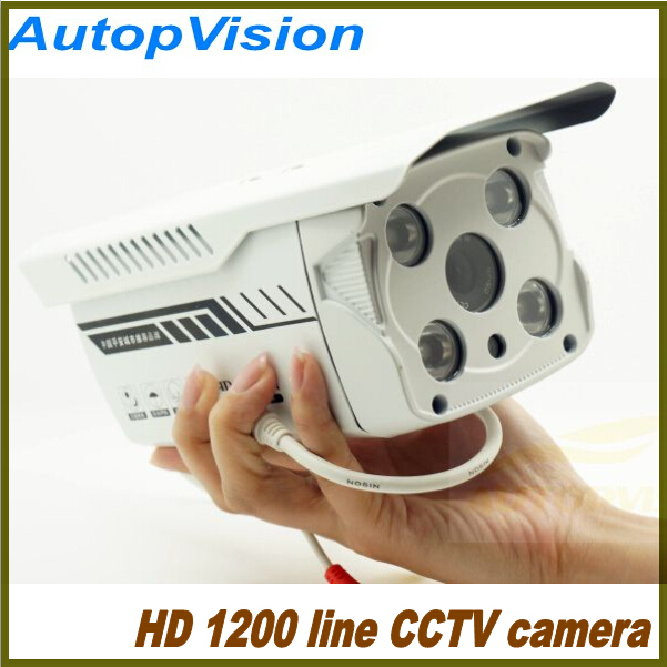 1200 Lines Infrared Surveillance   Bullet style  CCTV Camera with IR Night Vision  IP66 waterproof home security camera<br><br>Aliexpress