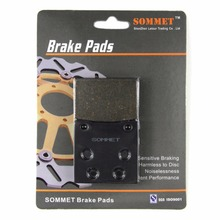 SOMMET Motorcycle Rear Brake Pads Disks 1 pair for Kawasaki ZZR 1200 (ZX 1200 C) (02-05) ZZR1200 ZX1200  LT161
