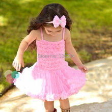 SALE Sunshine Sweetie Rosette Ruffles Dress,Birthday Special Occasions Photo Prop Dress up Rosette Ballerina Dress for Girls