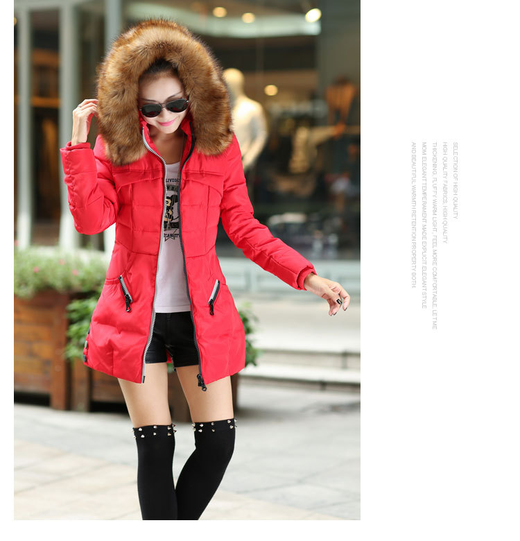 2017 Winter Women Parka Outerwear Duck Down Jacket With Large Fur Collar Plus Size S - XXXL Thickening Long CoatÎäåæäà è àêñåññóàðû<br><br>