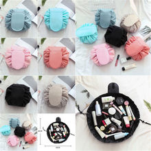 Toiletry Bag Fashion Makeup Bag Quick Pack Women s Travel Bag Drawstring  Solid Cosmetic Bag(China 38971af7a5053