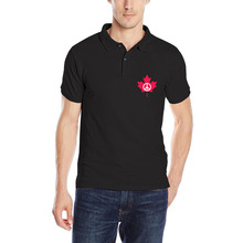 New Fashion Peace Symbol Flag of Canada Maple Leaf Man Polo Shirt Golfs Fitness Breathable Solid Short Sleeve Polos Tee Custom