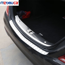 For Mercedes Benz S Class W222 S320 S400 2014-2017 Stainless Rear Bumper Inner/outside Sill Plate Protector Cover Trim Sticker