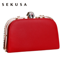 Vintage Women Crystal Evening Bags Handle Metal Flap Design Day Clutch Small Evening Dress Handbags Purse Evening Bag
